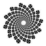Werveling, draaikolkachtergrond Roterende spiraal Pictogram, bloem, bloemblaadjes, overzicht, witte zwarte, stock illustratie