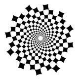 Werveling, draaikolkachtergrond Roterende spiraal Vierkant, technische diamant, geometrische meetkunde, royalty-vrije illustratie