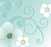 Werveling en bloemillustratie royalty-vrije illustratie