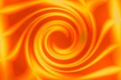 Werveling of krul in sinaasappel Royalty-vrije Stock Foto