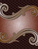 Werveling van Coffe van de dekkings de Abstracte Batik Bruine royalty-vrije stock foto