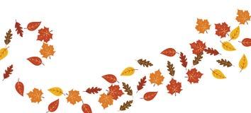 Werveling van de Wervelingsillustratie van esdoornbladeren stock illustratie