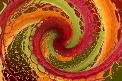 Werveling van gekleurde vloeistof vector illustratie