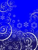 Wervelingen en Sneeuwvlokken Royalty-vrije Stock Afbeeldingen