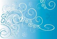 Wervelingen op blauwe achtergrond Stock Foto's
