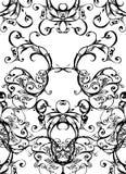 Wervelingen - zwarte op wit Royalty-vrije Stock Fotografie