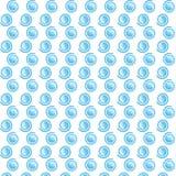 Wervelings Origineel Blauw Patroon stock illustratie