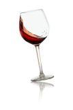 Wervelings rode wijn in glas Royalty-vrije Stock Afbeelding