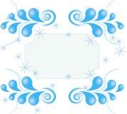 Wervelingspatroon van sterren op witte achtergrond Vector Illustratie