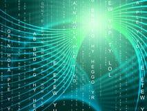 Wervelingstechnologie vertegenwoordigt Lichte Uitbarsting en Computer Stock Foto