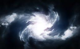 Wervelwind in de Wolken Stock Afbeeldingen