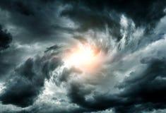 Wervelwind in de Wolken Royalty-vrije Stock Foto's