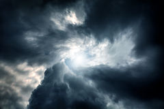 Wervelwind in de Wolken Royalty-vrije Stock Afbeelding