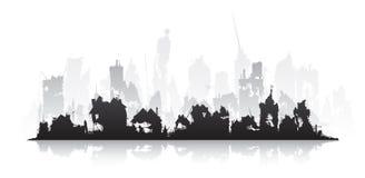 Werven van huizen waarin 20 jaar niet wordt gewoond in vector illustratie