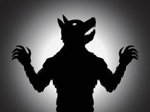 Werwolf-Schattenbild Stockfotografie