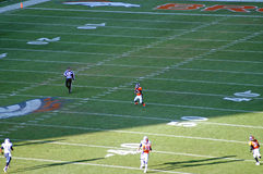 Wes welker punt. Wes welker setting up to return a punt in denver royalty free stock image