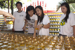 Wesak day volunteer Royalty Free Stock Photo