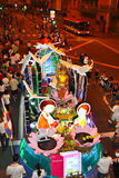 Wesak Procession 2011. KUALA LUMPUR, MALAYSIA-MAY 17: A beautifully decorated floats parading on Wesak Day procession at Petaling Street, Malaysia on 17 May,2011 Royalty Free Stock Photo