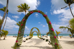 wesele na plaży Zdjęcie Stock