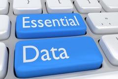 Wesentliches Datenkonzept Stockfoto