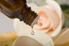 Wesentliches Schmieröl für aromatherapy stockbild