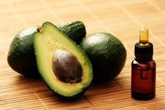 Wesentliches Schmieröl der Avocado Lizenzfreies Stockfoto