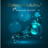 Wesentliches und eine Creme für Hautpflege realistische Illustration des Vektors 3d Kollagenlösungs-, -serum- und -wassertropfen  lizenzfreie abbildung