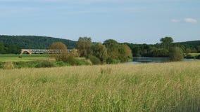 Weser en verano Fotos de archivo libres de regalías