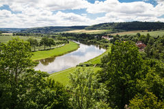 Weser hills. Landscape in Germany Stock Photo
