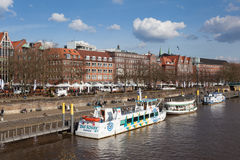 Weser river in Bremen, Germany Royalty Free Stock Photography