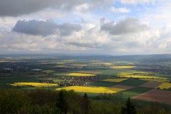 Weserbergland Weser小山 库存图片