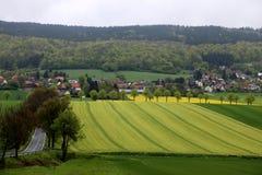 Weserbergland Weser kullar Royaltyfri Bild