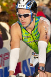 Wesley Gardner Racing in the Arizona Ironman Triat Royalty Free Stock Photo