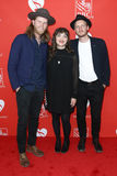 Wesley Schultz, Neyla Pekarek, Jeremiah Fraites. Wesley Schultz, Neyla Pekarek and Jeremiah Fraites of The Lumineers attend the 13th Annual MusiCares MAP Fund Royalty Free Stock Photo