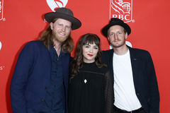 Wesley Schultz, Neyla Pekarek, Jeremiah Fraites. Wesley Schultz, Neyla Pekarek and Jeremiah Fraites of The Lumineers attend the 13th Annual MusiCares MAP Fund Royalty Free Stock Image