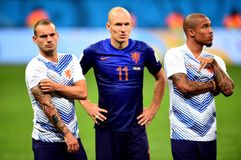 Wesley Sneijder and Arjen Robben Coupe du monde 2014 Royalty Free Stock Image