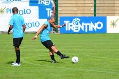 Wesley Sneijder en Samuel Eto'o Royalty-vrije Stock Foto's