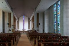 Wesley United Methodist Church-Innenraum Stockfotos