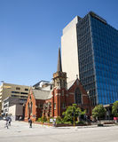 Wesley Uniting Church at corner of Hay Street and William Street in Perth. City, Western Australia stock photo
