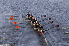 Wesleyan University Coxswain Ross Heinemann races Stock Photo