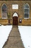 Wesleyen教堂- Lealholme -冬天-北部约克夏英国 免版税图库摄影