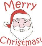 Wesoło Święty Mikołaj Boże Narodzenia Ilustracji
