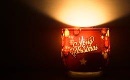 wesoło świeczek boże narodzenia Zdjęcia Royalty Free