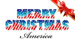 wesoło America boże narodzenia Zdjęcie Stock
