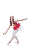 Wesoło balerina patrzeje kamerę podczas gdy tanczący Fotografia Stock