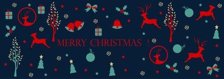 Wesoło boże narodzenia, Bożenarodzeniowy sieci kłoszenie ilustracji