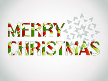 Wesoło Boże Narodzenia coloured tekst Fotografia Stock