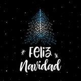 Wesoło boże narodzenia i choinka z Argentyńską flaga ilustracji