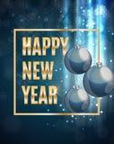 Wesoło boże narodzenia i nowego roku tło również zwrócić corel ilustracji wektora Zdjęcia Royalty Free