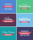 Wesoło boże narodzenia i nowy rok karty ilustracji